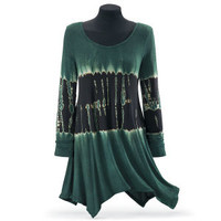 Forest Tie Dye Tunic - Women's Clothing & Symbolic Jewelry – Sexy, Fantasy, Romantic Fashions