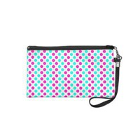 Pink and Blue Polka Dots Cosmetics Bags from Zazzle.com