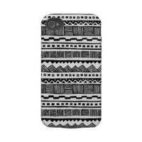 Tribal black n white tough iphone 4 case from Zazzle.com