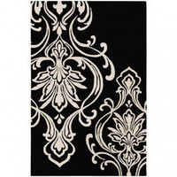 Candice Olson Modern Classics Black Contemporary Rug - CAN1951 - Wool Rugs - Area Rugs by Material - Area Rugs