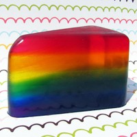 Slice Of The Rainbow Coconut Soap | Luulla
