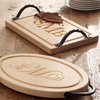 Maple Leaf at Home Personalized Cutting Boards