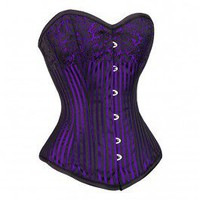 MY-009 - Burlesque Purple Corset - Steel Boned Corsets