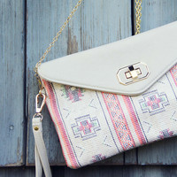 San Marcos Cross Body Tote - Sand multi