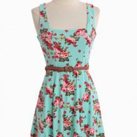Garden Luster Belted Dress | Modern Vintage Dresses
