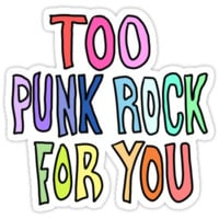 Too Punk Rock For You