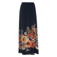 Floral Border Print Maxi Skirt at A|wear