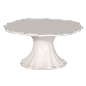 White Fluted Cake Stand