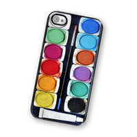 Watercolor Paint IPhone Hard Case, Fits IPhone 4 And IPhone 4S - Black Trim | Luulla