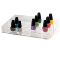 Clear Multi-Level Nail Polish Organizer