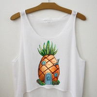 Pineapple Crop Top - Hipster Tops