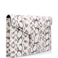 Small Grafton Clutch In Elaphe by Oscar de la Renta - Moda Operandi