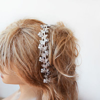 Silver Sparkly Headband, Silver Hair Accessories ,Silver Headband for women, Wedding  Headband,  Wedding Hair Accessories,  Bridal  Headband