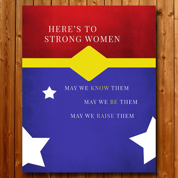 Wonder Woman Strong Women Inspirational Art Printable Art Print, Instant Download