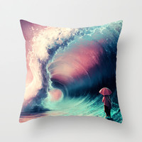Cross over together Throw Pillow by Cyril ROLANDO