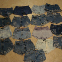 High Waisted Shorts Custom Order Any Size Made To by shortyshorts