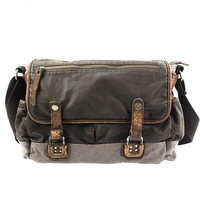 Vintage waxed canvas cross messenger bags mens