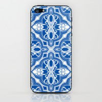 Dotted Tile: Vibrant Blue  iPhone & iPod Skin by Eileen Paulino
