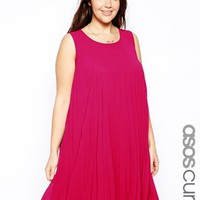 ASOS CURVE Exclusive Pleated Swing Dress