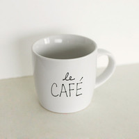 $15.00 Le Cafe Mug by OhLeanderShop on Etsy