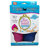 Turbie Twist® Hair Towel in Pink/Blue (Set of 2)