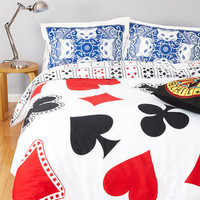 ModCloth Quirky A Royal Plush Duvet Cover in Twin, Twin XL