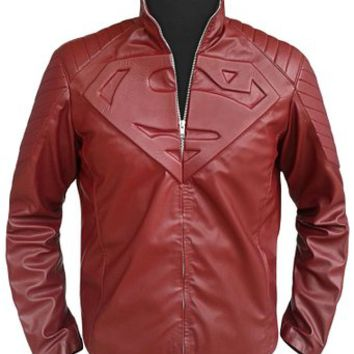 Clark Kent Superman Smallville Red Leather Jacket