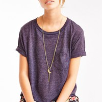 Truly Madly Deeply Vintage-Washed Cropped Tee-