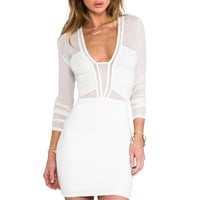 x REVOLVE Seductive Dress in Ivory