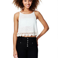 Lace Trim Muscle Tank -