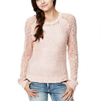 Open Stitch Raglan Sweater - G