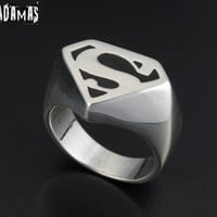 Superman Sterling Silver Ring by AdamasXs on Etsy