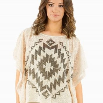 THE CLASSIC AZTEC GRAPHIC PONCHO