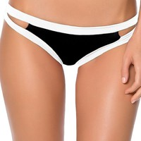 Becca by Rebecca Virtue Women's Tab Side Brazilian Bikini Bottom