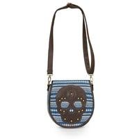 Blues Yarn Dyed Brown Skull Crossbody Bag by Loungefly (Blue)