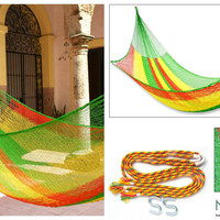 &#x27;Tropical Passion&#x27; Hammock (Mexico) | Overstock.com