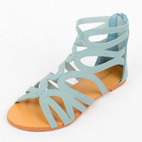 Maniac Strappy Sandals in Light Blue :: tobi
