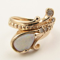 Wexford Jewelers | our passion is design >> Mermaid's Ring in Opal & Diamond