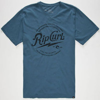 Rip Curl Water Logged Heritage Mens T-Shirt Blue  In Sizes