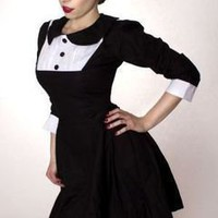 Wednesday Aadams Gothic Dolly Lolita Dress as seen in Bella Morte Magazine - MGD Clothing
