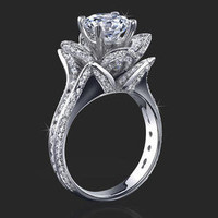Engagement Rings -  1.78 ctw. 14K Gold Diamond Engagement Ring