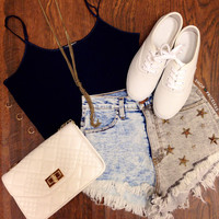 Dallas Distressed Shorts