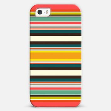 retro stripe iPhone 5s case by Sharon Turner | Casetify
