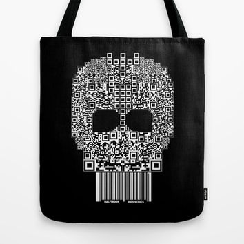 Code Skull Tote Bag by Halfmoon Industries