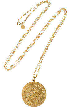 Monica Vinader|Marie 18-karat gold-plated disc necklace|NET-A-PORTER.COM