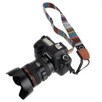 Vintage Soft Multi-Color Universal Camcorder Camera Shoulder Strap Neck Belt for DSLR Nikon Canon Sony Olympus Samsung