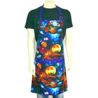 Outer Space Apron , Planets, Galaxies, Sci Fi Kitchen Decor , Starry Night , Astronomy