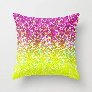 Glitter Graphic G224 Throw Pillow by MedusArt | Society6