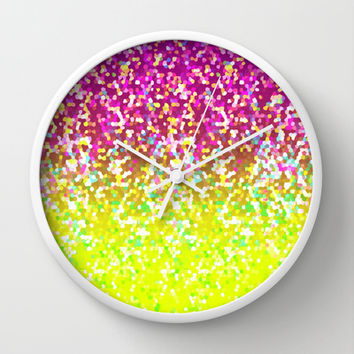 Glitter Graphic G224 Wall Clock by MedusArt | Society6