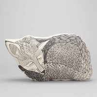 The Rise And Fall Sleeping Fox Pillow - Urban Outfitters